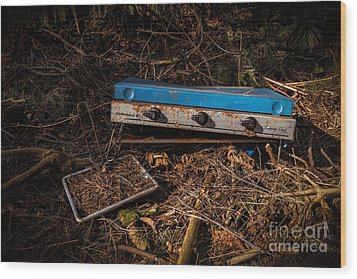 Gone Camping Wood Print by John Farnan