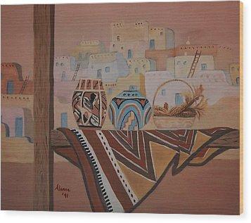 Gone To Work Wood Print by Alanna Hug-McAnnally