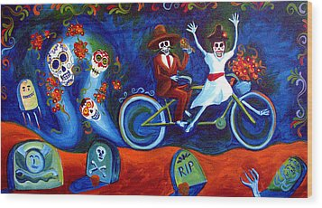 Gone With The Wind Day Of The Dead Wood Print by Janet Oh