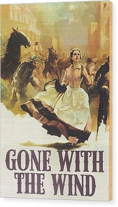 Gone With The Wind Wood Print by Georgia Fowler