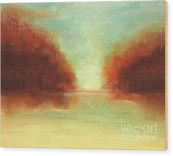 Good Earth   Haze Wood Print by Rosemarie Glennon Kliegman