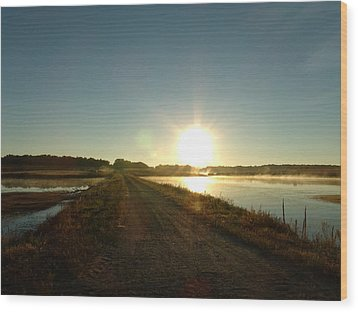 Good Morning Sunrise Road  Wood Print by Brian  Maloney