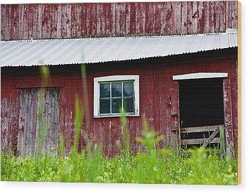 Good Ole Red Barn Wood Print by Karol Livote