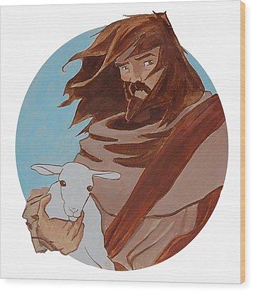 Good Shepherd 2 Wood Print by Miguel De Angel