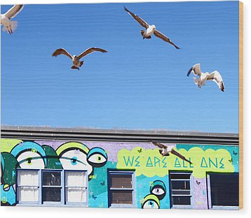 Good Vibes At Venice Beach Wood Print by Casey Berger