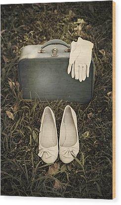 Goodbye Wood Print by Joana Kruse