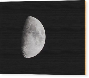 Goodbye Neil Armstrong Wood Print by Clarice  Lakota
