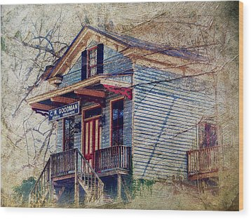 Goodman General Merchandise Wood Print by Kathy Jennings