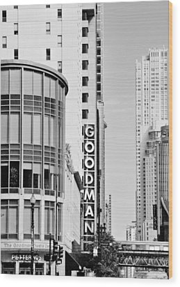 Goodman Theatre Center Chicago Wood Print by Christine Till