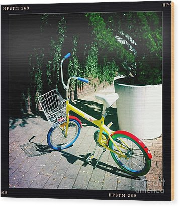 Wood Print featuring the photograph Google Mini Bike by Nina Prommer