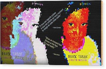 Google The Word - Talibe Wood Print by Fania Simon