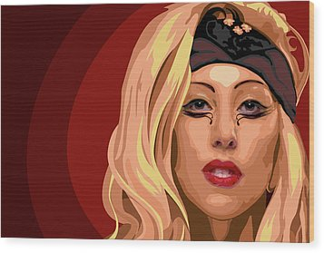 Googoo For Gaga Wood Print