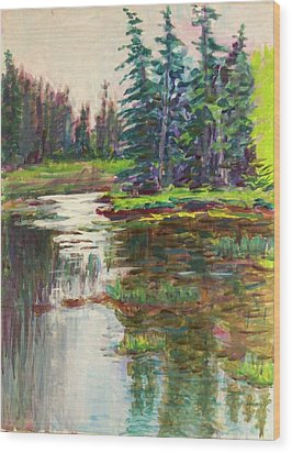 Goose Cove In Acadia Wood Print