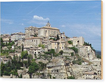 Gordes In Provence Wood Print by Carla Parris