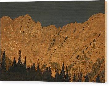 Gore Range Alpenglow Wood Print by Bob Berwyn