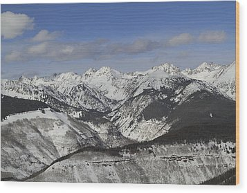 Gore Range, Dillon, Colorado, In Winter Wood Print by John Kieffer