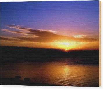 Gorgeous Sunset  Wood Print by Karen M Scovill