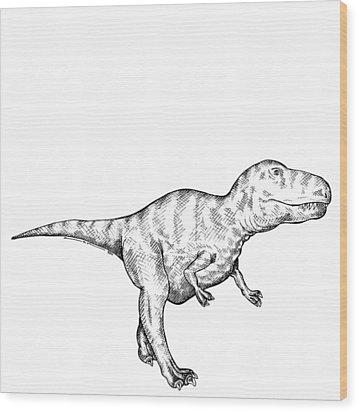 Gorgosaurus - Dinosaur Wood Print by Karl Addison