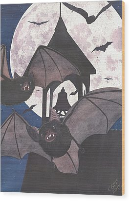 Got Bats Wood Print by Catherine G McElroy