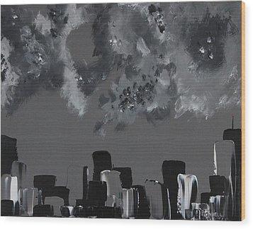 Gotham I Wood Print