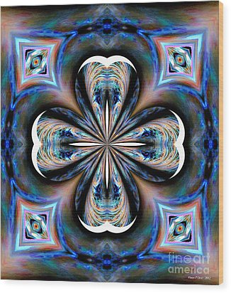 Gothic Blues Wood Print by Maria Urso