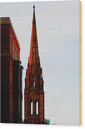 Gothic Spire Wood Print by Marie Jamieson