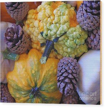 Wood Print featuring the photograph Gourds 4 by Deniece Platt