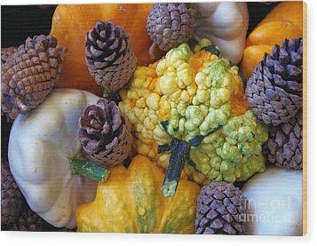 Wood Print featuring the photograph Gourds 5 by Deniece Platt