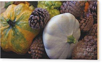 Wood Print featuring the photograph Gourds 6 by Deniece Platt