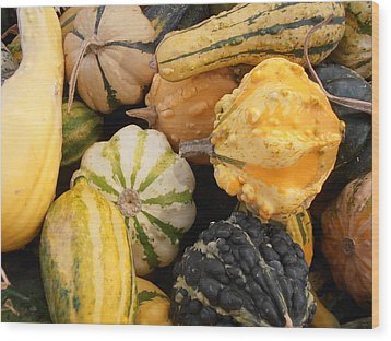 Gourds Wood Print by Kimberly Perry
