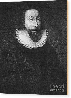 Governer John Winthrop Wood Print by Extrospection Art