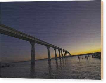 Wood Print featuring the photograph Governor Thomas Johnson Bridge by Kelly Reber