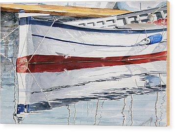 Gozzo Bianco Wood Print by Giovanni Marco Sassu