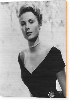 Grace Kelly, 1956 Wood Print by Everett