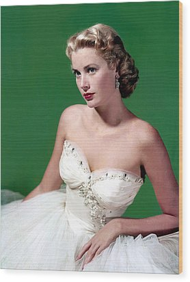 Grace Kelly, C. Mid-1950s Wood Print by Everett