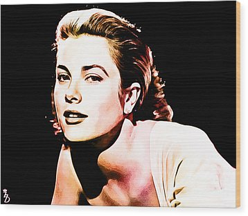 Grace Kelly Wood Print by The DigArtisT