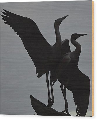 Graceful Silhouettes Wood Print by Antonia Citrino