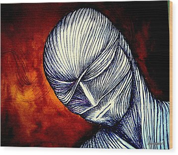 Gradually Falling Asleep In Apathy Of Unconsciousness Wood Print by Paulo Zerbato