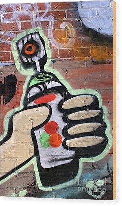 Graffiti 4 Wood Print by Sophie Vigneault