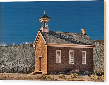 Grafton Schoolhouse Wood Print by Christopher Holmes