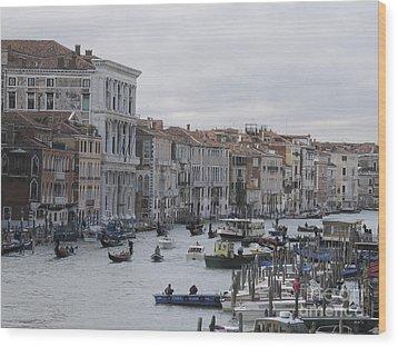 Gran Canal. Venice Wood Print by Bernard Jaubert