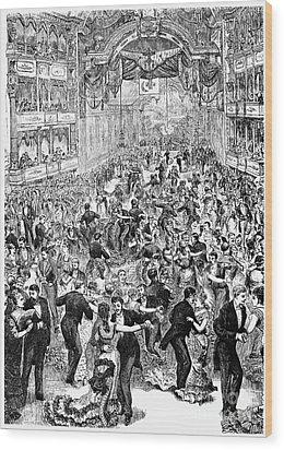 Grand Ball, New York, 1877 Wood Print by Granger