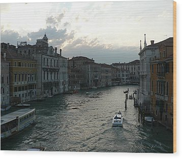 Wood Print featuring the photograph Grand Canal At Dusk by Laurel Best