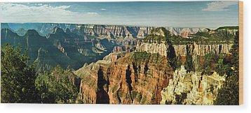 Grand Canyon Angel Panorama Wood Print by Bob and Nadine Johnston