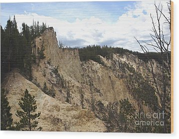 Wood Print featuring the photograph Grand Canyon Cliff In Yellowstone by Living Color Photography Lorraine Lynch