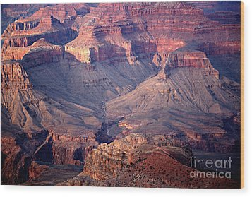 Grand Canyon Evening Interior Wood Print by Michael Kirsh