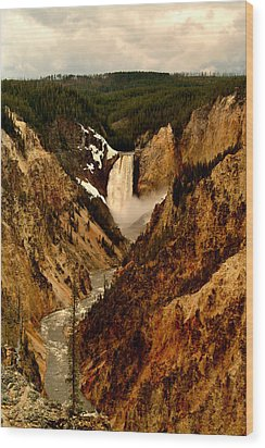 Grand Canyon Of The Yellowstone Wood Print by Ellen Heaverlo