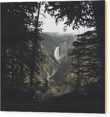 Wood Print featuring the photograph Grand Canyon Of The Yellowstone  by J L Woody Wooden