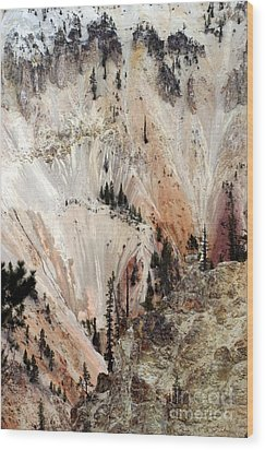 Wood Print featuring the photograph Grand Canyon Of Yellowstone Vertical by Living Color Photography Lorraine Lynch