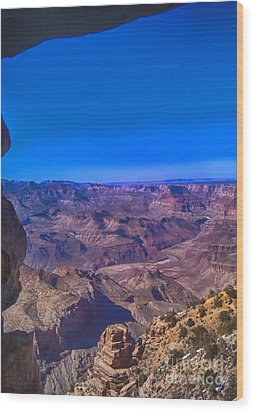 Grand Canyon Overlook Wood Print by Jeremy Linot